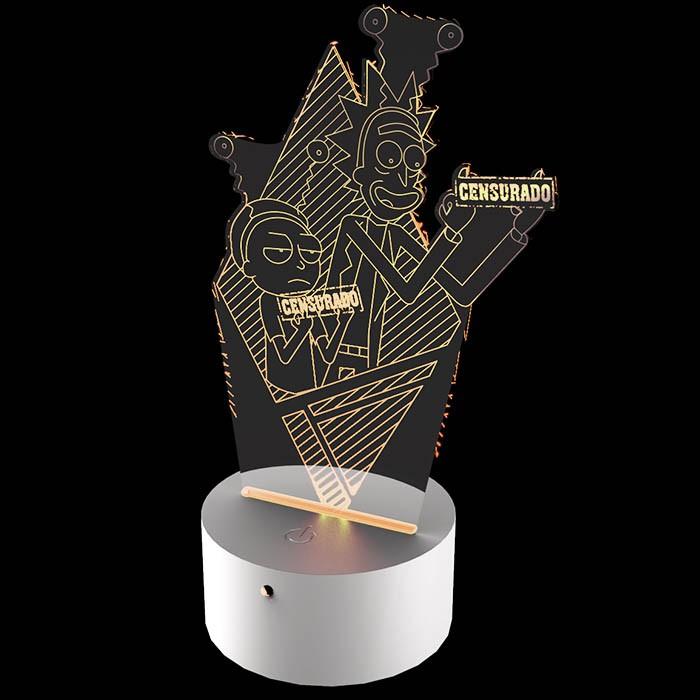 Luminária de Led - Rick e Morty Censurado