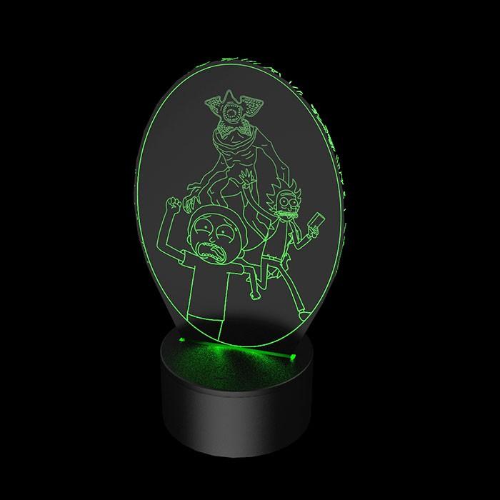 Luminária de Led - Rick e Morty Demogorgon