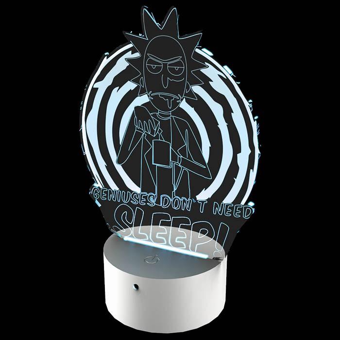 Luminária de Led - Rick e Morty Gênios Não Dormem
