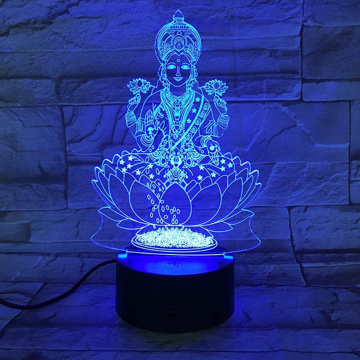 Luminária 3D - Deusa da Sorte