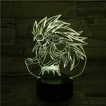 Luminária 3D - Goku