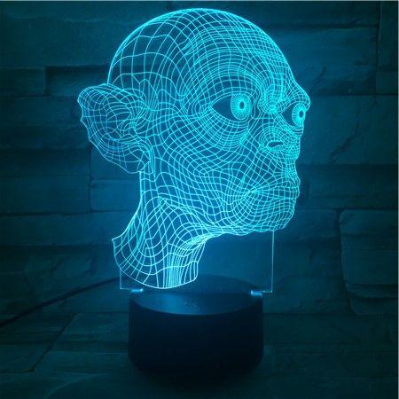 Luminária 3D - Smeagol Senhor dos Anéis