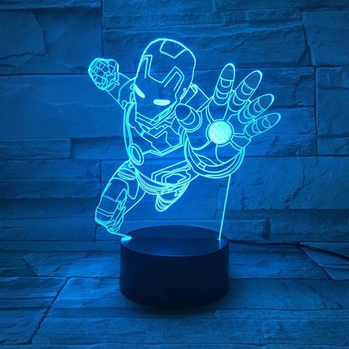 Luminária 3D - Homem De Ferro