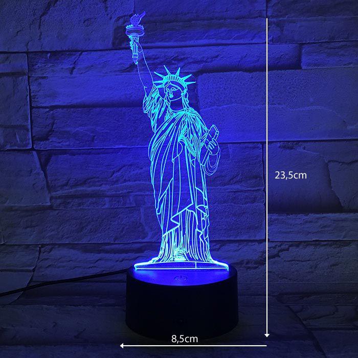 Luminária de Led - Estatua da Liberdade