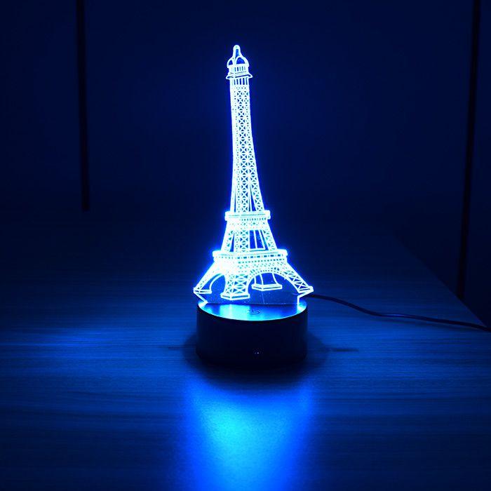 Luminária 3D - Torre Eiffel