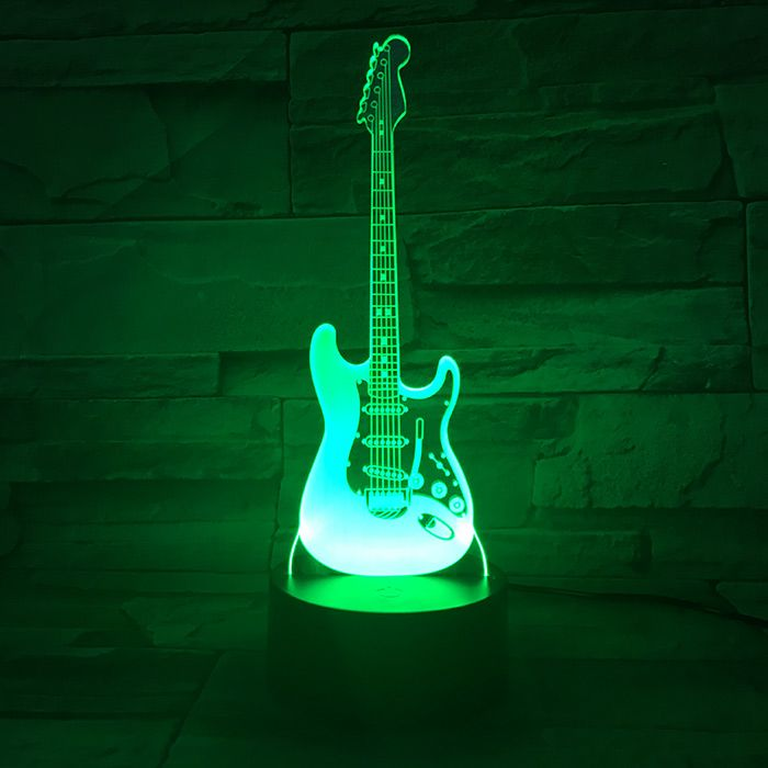 Luminária 3D - Guitarra