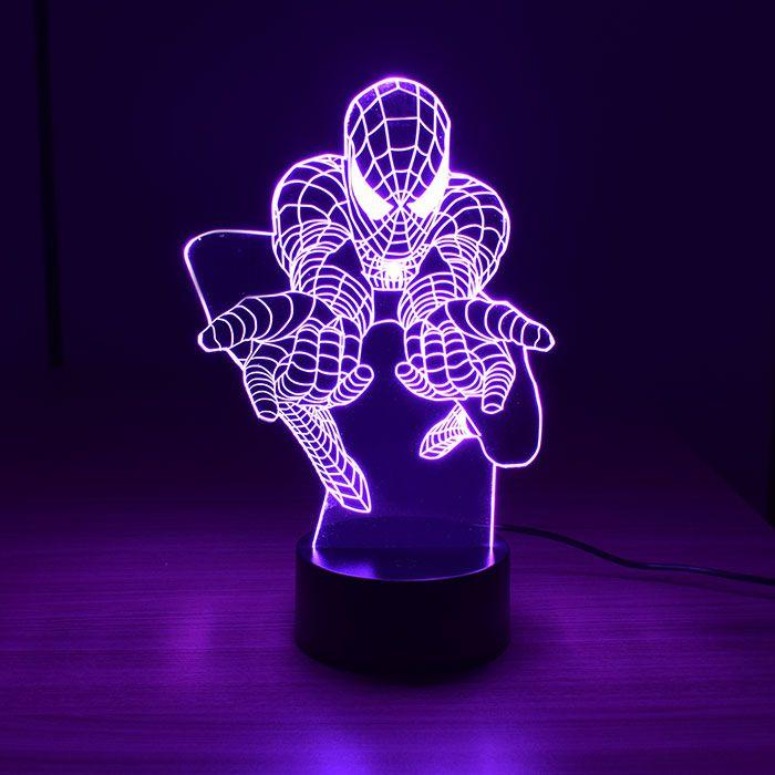 Luminária 3D - Homem-Aranha