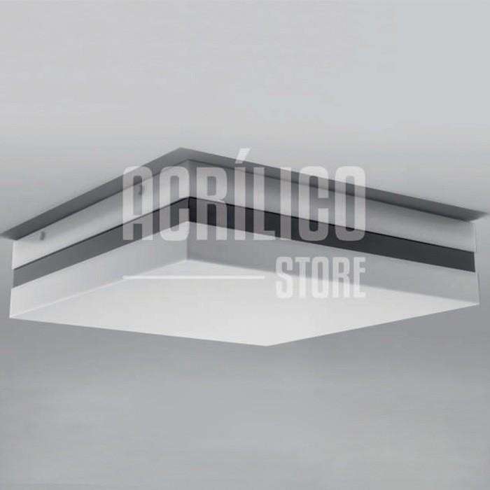 Luminária Plafon em Acrílico Modelo Abante 40X40X8,3cm