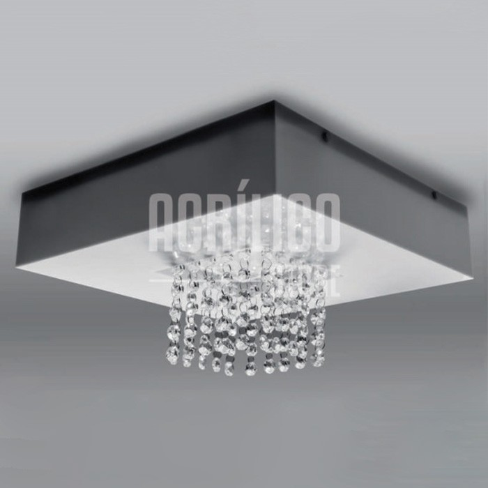 Luminária Plafon em Acrílico Modelo Aury 50X50X8,3cm