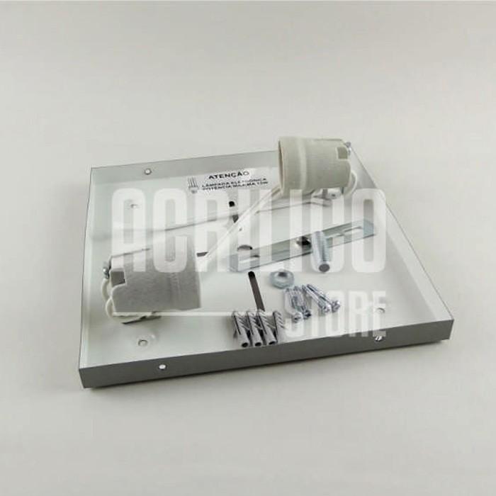 Luminária Plafon em Acrílico Modelo Rabelo 20X20X8,3cm