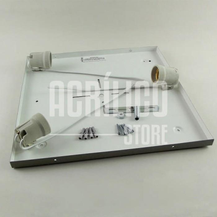 Luminária Plafon de Acrílico Modelo Rabelo 33X33X8,3cm