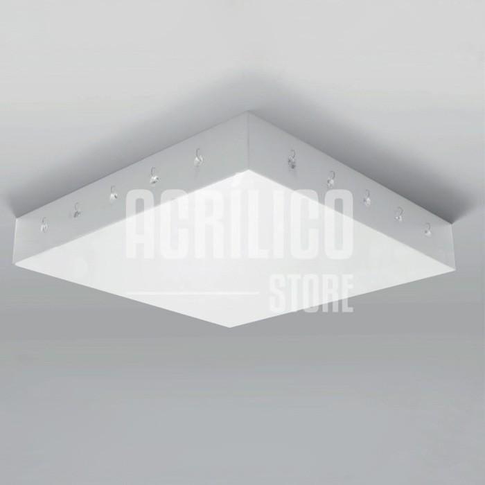 Luminária Plafon em Acrílico Modelo Rabelo 40X40X8,3cm