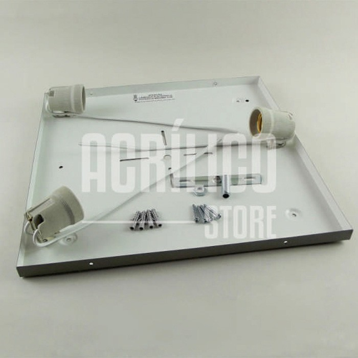 Luminária Plafon em Acrílico Modelo Selenah 33X33X8,5cm