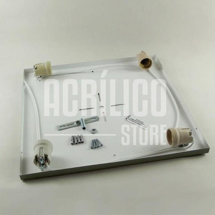 Luminária Plafon em Acrílico Modelo Selenah 40X40X8,5cm