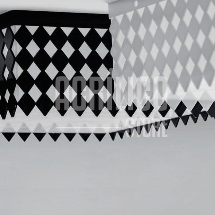 Luminária Plafon de Acrílico Modelo Selenah 50x50x8,5cm