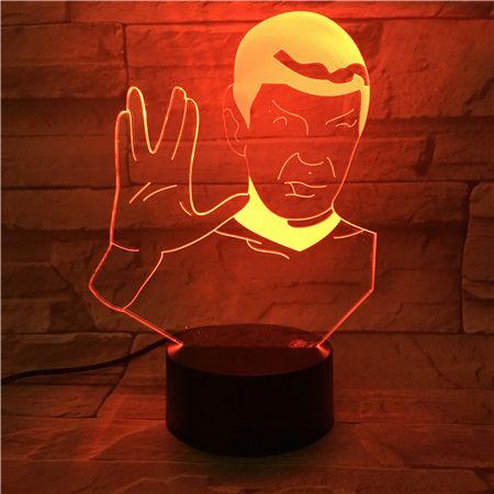 Luminária 3D  Spock Star Trek