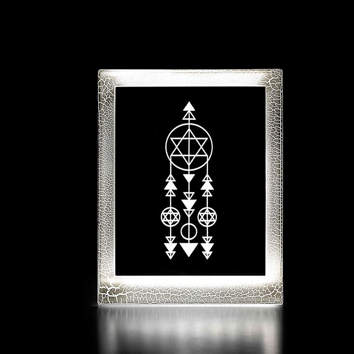 Moldura Decorativa Led - Filtro dos Sonhos Geométrico