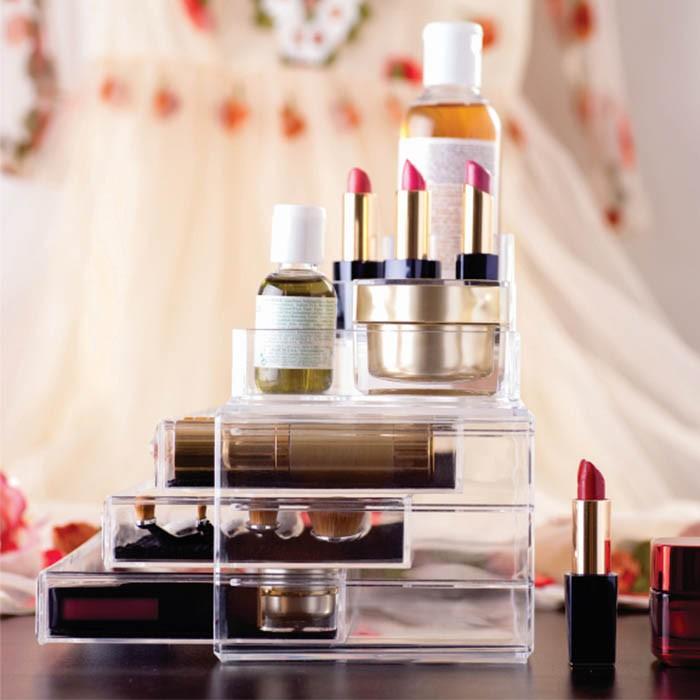 Organizador / Porta Maquiagem 3 Gavetas com Bandeja para Batom