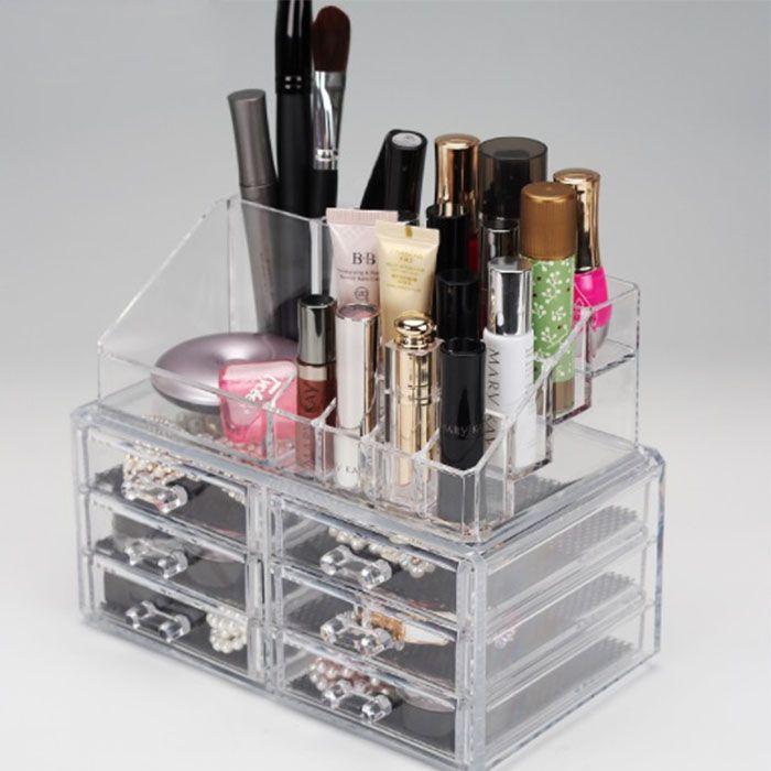 Organizador / Porta Maquiagem 6 Gavetas com Bandeja para Batom