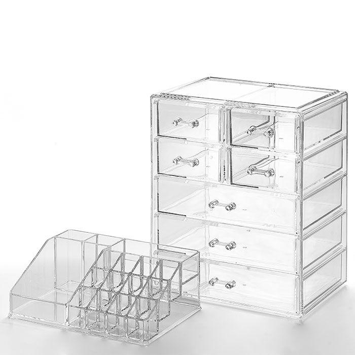 Organizador/ Porta Maquiagem 7 gavetas com Bandeja