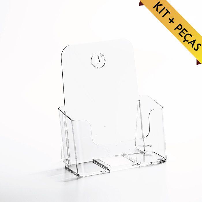 Porta Folheto com Bolsa A5 (21x15cm) Kit 10 e 20 Peças