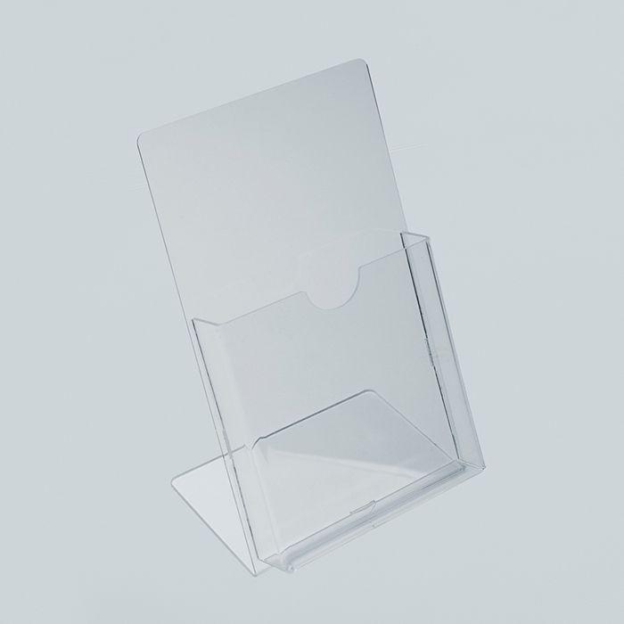 Porta Folheto de Acrílico para Balcão - Bolsa A6 (15x10cm) Kits de 5, 10, 20, 50 e 100 peças