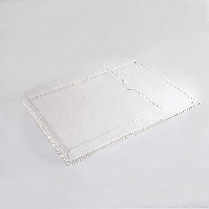 Porta Folheto de Acrílico para Parede - Bolsa A4 (30x21cm)