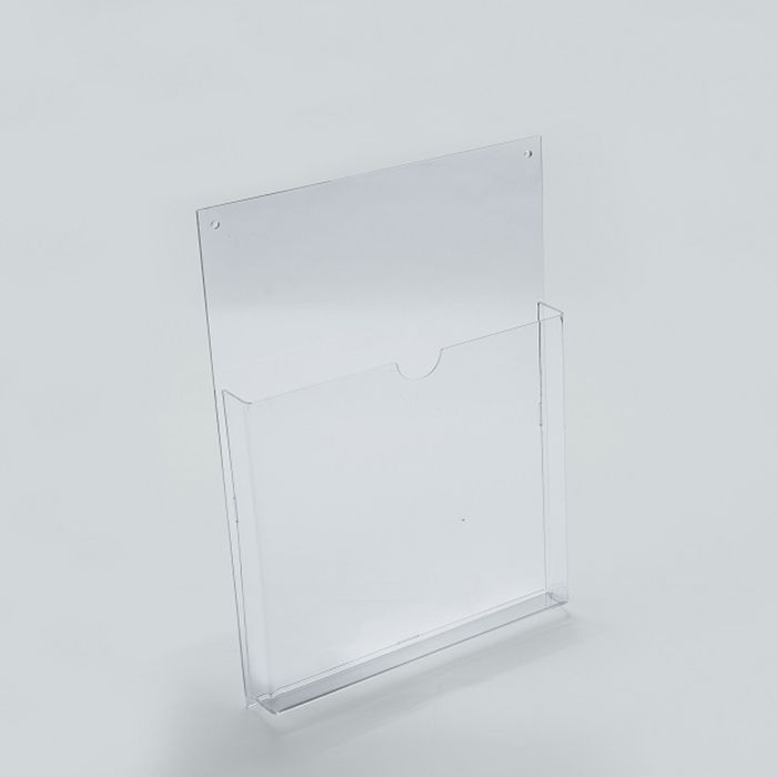 Porta Folheto em Acrílico para Parede - Bolsa A5 (21x15cm)