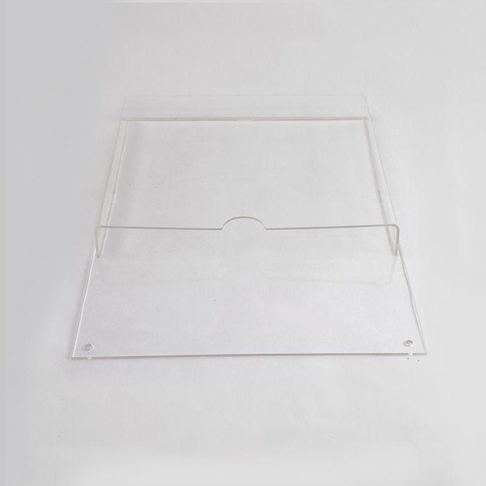 Porta Folheto de Acrílico para Parede - Bolsa A5 (21x15cm)