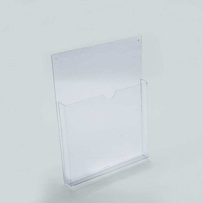 Porta Folheto em Acrílico para Parede - Bolsa A5 (21x15cm) Kit 10, 20, 50 e 100 Peças