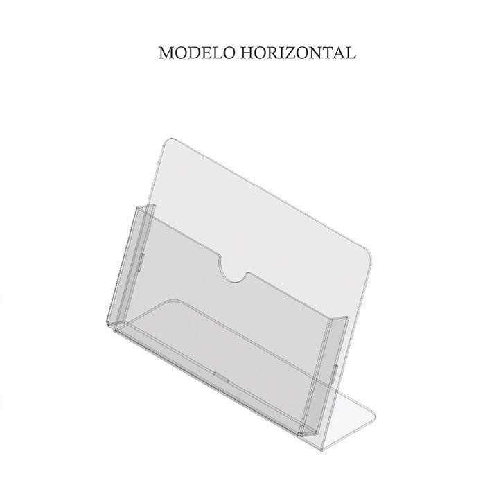 PORTA FOLHETO EM ACRÍLICO PARA BALCÃO - BOLSA A6 (15x10CM)