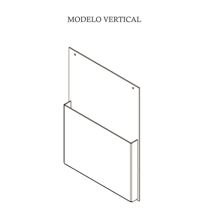 Porta Folheto em Acrílico para Parede - Bolsa A4 (30x21cm) Kit 10, 20, 50 e 100 Peças