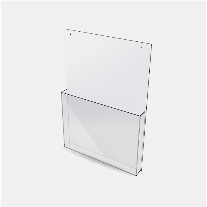 Porta Folheto de Acrílico para Parede - Bolsa A4 (30x21cm) Kits de 5, 10, 20, 50 e 100 peças