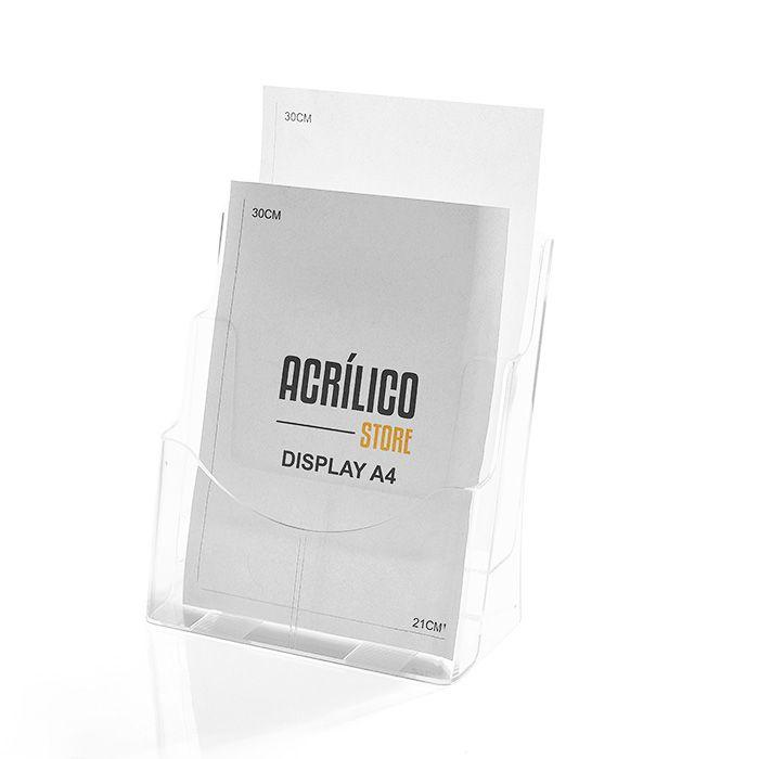 Porta Folheto Duplo com Bolsas A4 Vertical (21x30cm)