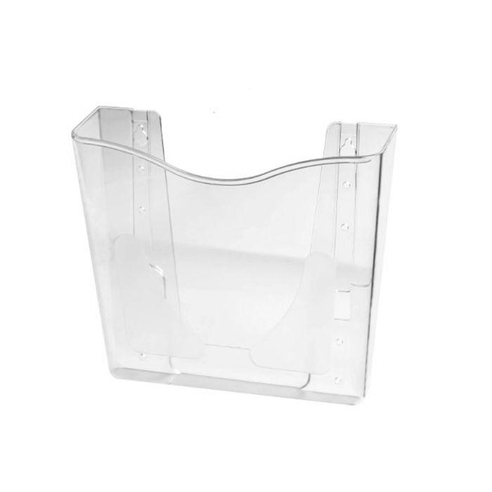 Porta Folheto em Acrílico para Parede - Bolsa A4 (30x21cm)