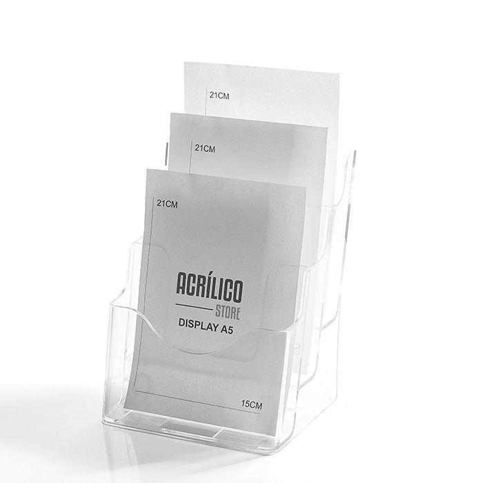 Porta Folheto Triplo A5 (21x15cm)