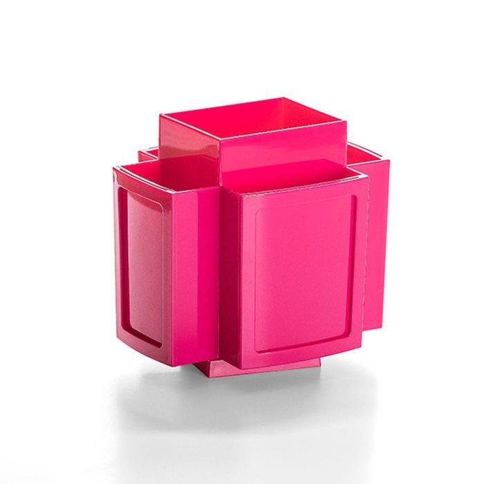 Porta Pincel Giratório em Acrílico Rosa
