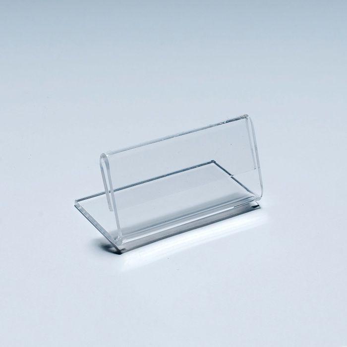 Porta Preço em Acrílico 5x15cm Kit 10, 20, 50 e 100 Peças