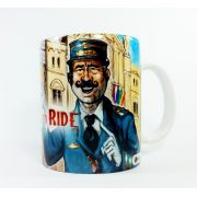 Caneca Porcelana Ticket to Ride Abstrata