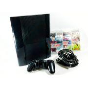 Console PS3 Super Slim 250GB bivolt 3 jogos Original Usado