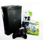 Console Xbox 360 Fat 120gb 110V + Carregador com Minecraft e Fable Original Usado