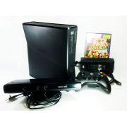 Console Xbox 360 Slim 4GB + Kinect + Jogo + Controle