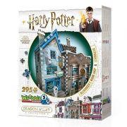 Harry Potter Loja de Varinhas Olivaras e Instrumentos de Escrita Scribbulus Quebra-Cabeça 3D Galapagos W3D008