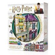 Harry Potter Madame Malkin e Sorveteria do Florean Fortescue Quebra-Cabeça 3D Galapagos W3D010