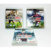 Kit de jogos PES 10, 11 e 12 Pro Evolution Soccer PS3 Original Usado