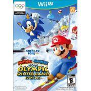 Mario e Sonic at the Olympic Winter Games Sochi 2014 Nintendo Wii-U Original Novo