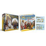Merlin + Expansão Arthur + Queenie 1 e 2 Jogo de Tabuleiro Calamity Games