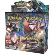 Pokemon Booster Sol e Lua 3 Sombras Ardentes Caixa Master com 36un. Copag