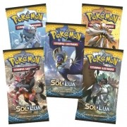 Pokemon Booster Sol e Lua com 6 Cards Copag 97428