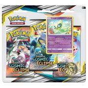Pokemon Sol e Lua 12 Eclipse Cósmico Triple Pack Celebi Jogo de Cartas Copag 99579
